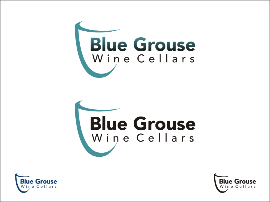 Logo Design by RED HORSE design studio - Entry No. 205 in the Logo Design Contest Creative Logo Design for Blue Grouse Wine Cellars.