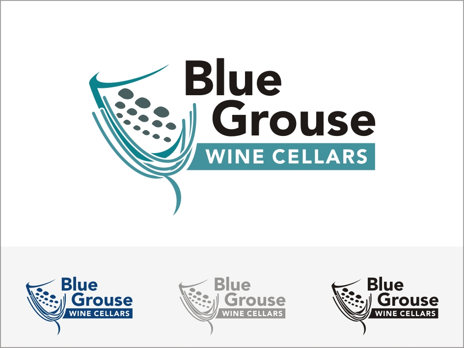 Logo Design by RED HORSE design studio - Entry No. 206 in the Logo Design Contest Creative Logo Design for Blue Grouse Wine Cellars.