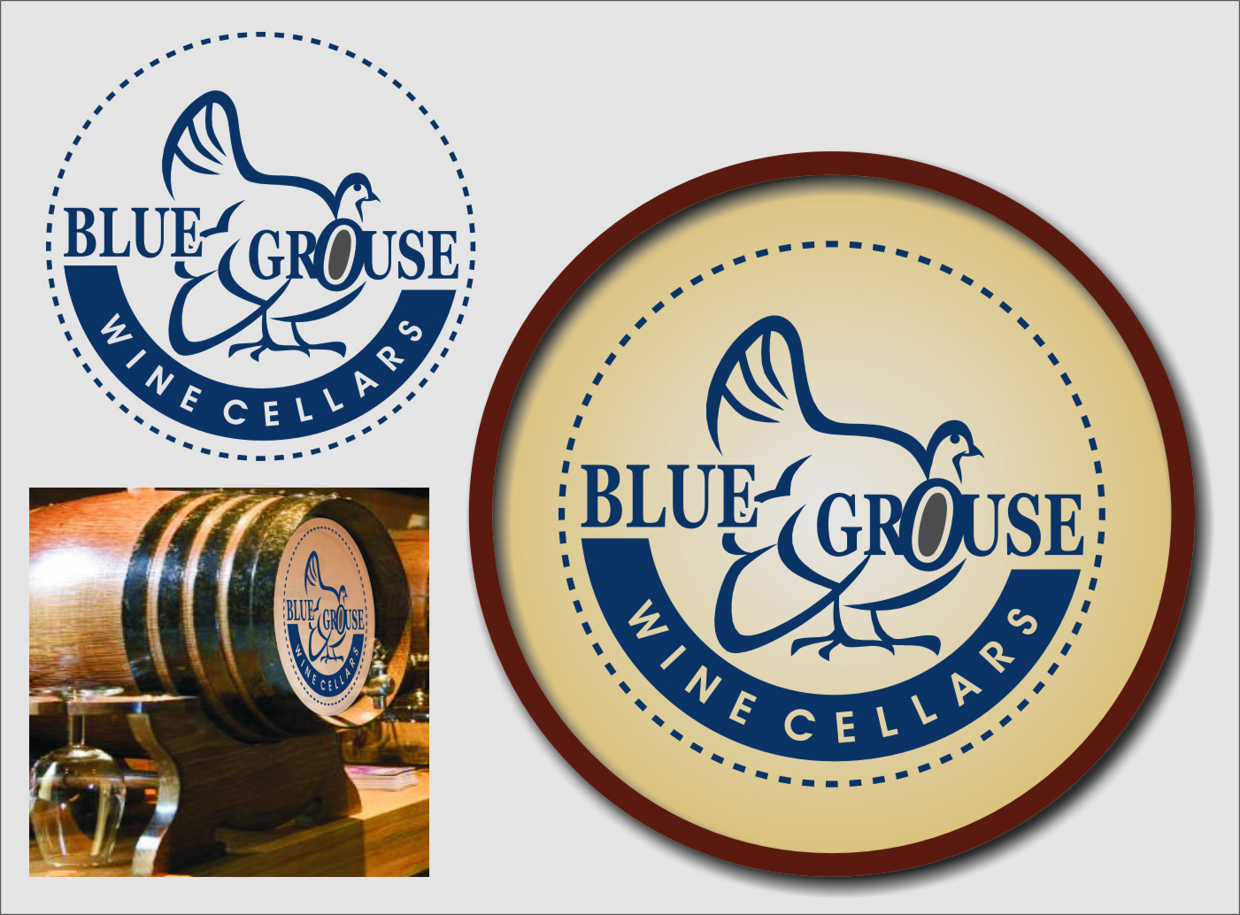 Logo Design by Ngepet_art - Entry No. 208 in the Logo Design Contest Creative Logo Design for Blue Grouse Wine Cellars.