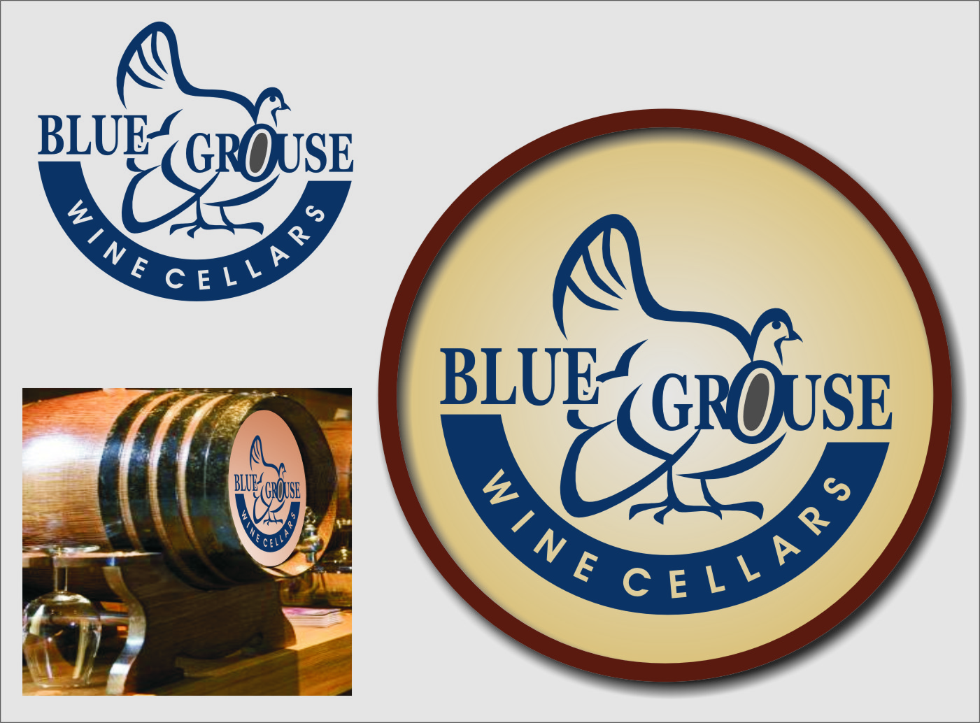Logo Design by RasYa Muhammad Athaya - Entry No. 209 in the Logo Design Contest Creative Logo Design for Blue Grouse Wine Cellars.
