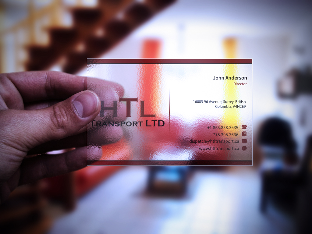 Business Card Design by mediaproductionart - Entry No. 22 in the Business Card Design Contest Fun Business Card Design for HTL Transport LTD.