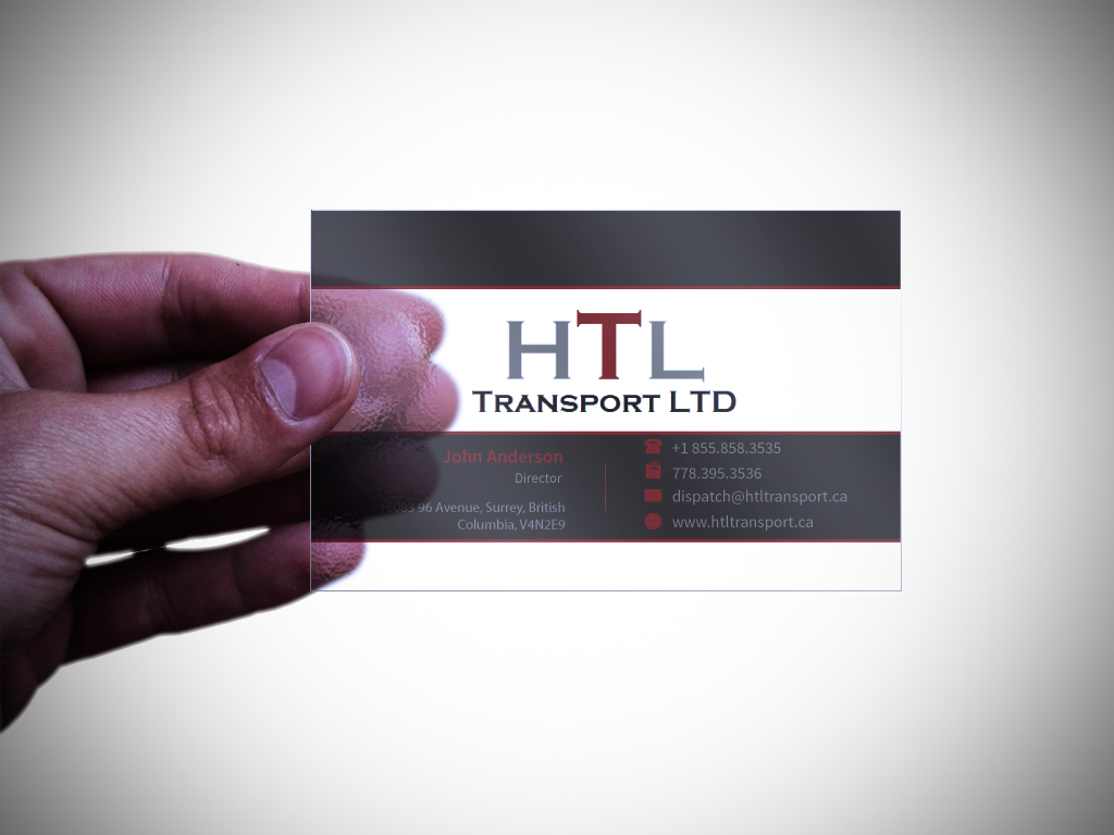 Business Card Design by mediaproductionart - Entry No. 23 in the Business Card Design Contest Fun Business Card Design for HTL Transport LTD.