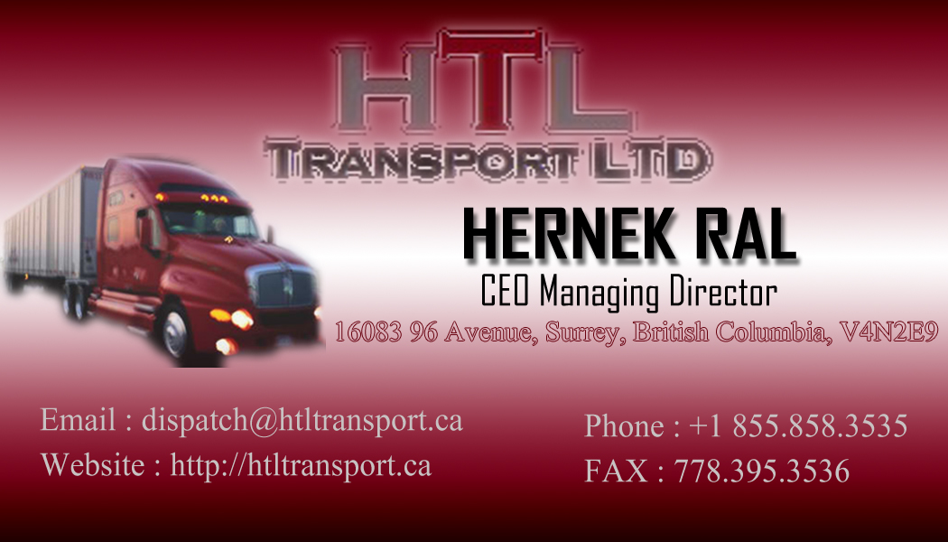 Business Card Design by Private User - Entry No. 24 in the Business Card Design Contest Fun Business Card Design for HTL Transport LTD.