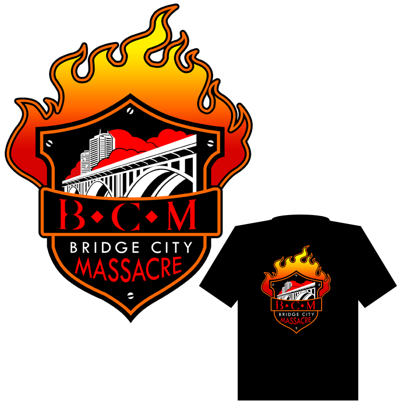 Logo Design by Robert Turla - Entry No. 39 in the Logo Design Contest New Logo Design for Bridge City Massacre.