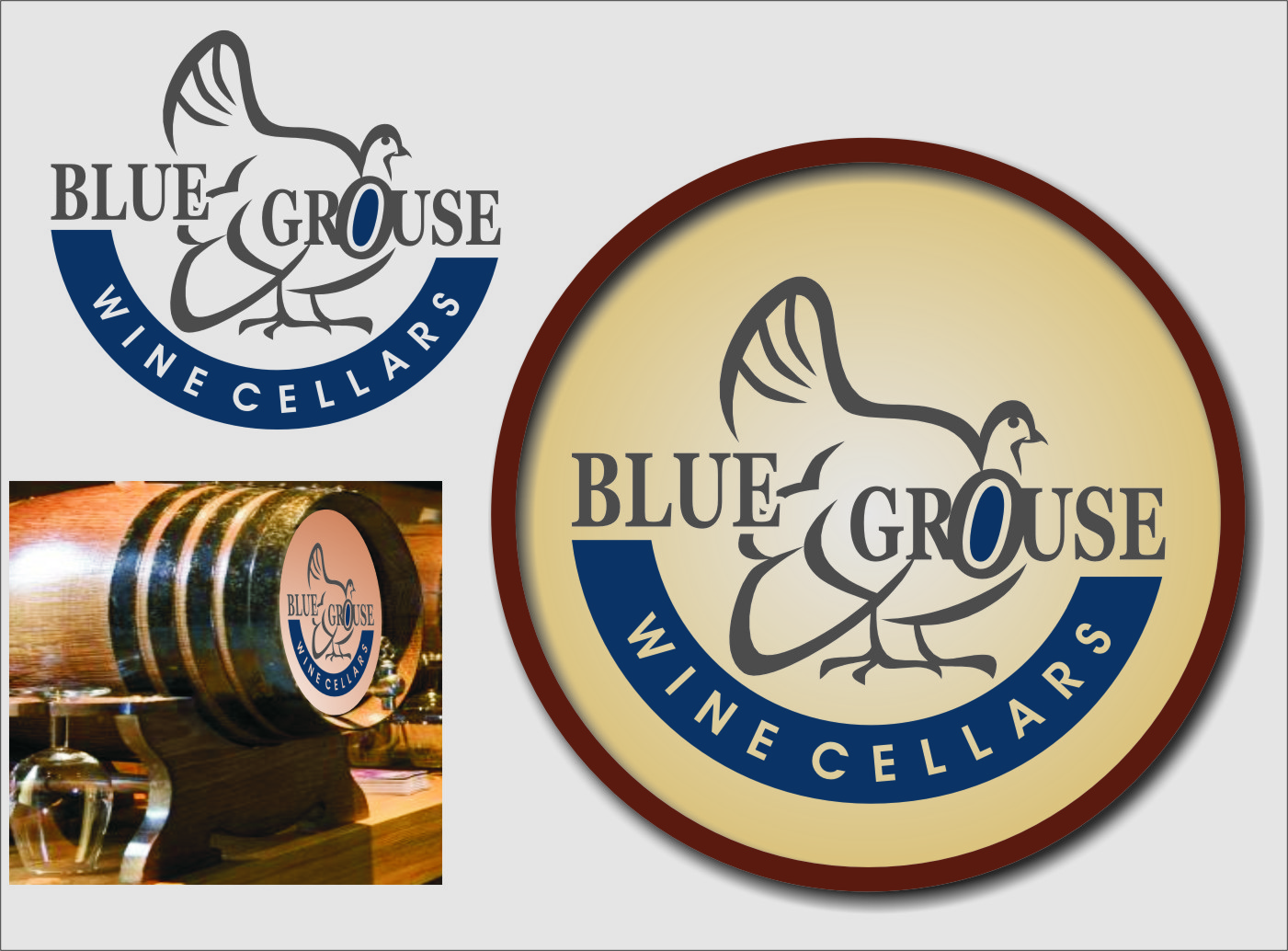 Logo Design by Ngepet_art - Entry No. 218 in the Logo Design Contest Creative Logo Design for Blue Grouse Wine Cellars.