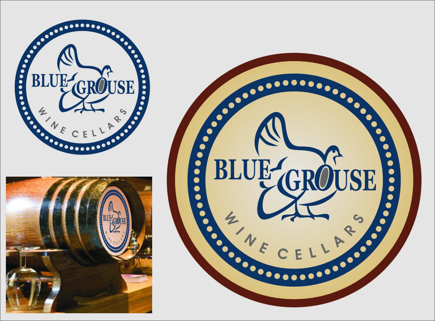 Logo Design by Ngepet_art - Entry No. 219 in the Logo Design Contest Creative Logo Design for Blue Grouse Wine Cellars.
