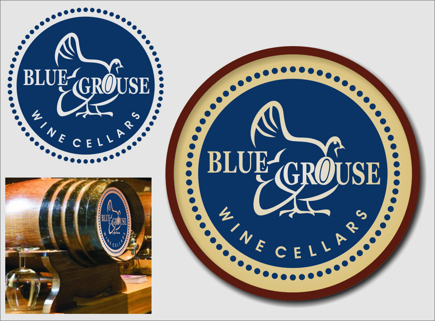 Logo Design by Ngepet_art - Entry No. 220 in the Logo Design Contest Creative Logo Design for Blue Grouse Wine Cellars.