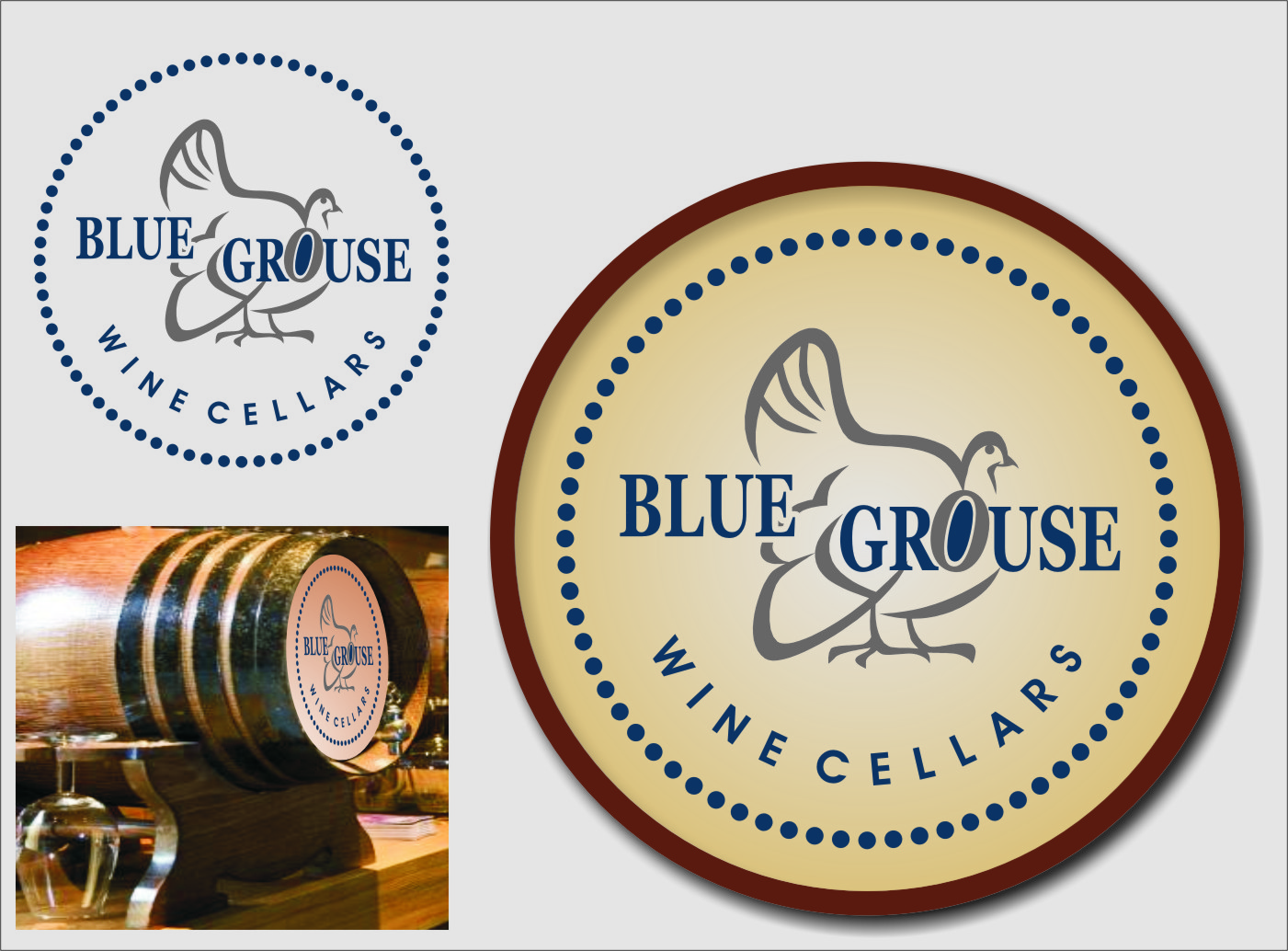 Logo Design by RoSyid Rono-Rene On Java - Entry No. 221 in the Logo Design Contest Creative Logo Design for Blue Grouse Wine Cellars.