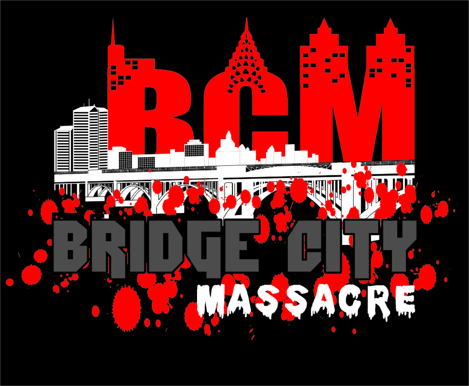 Logo Design by Ngepet_art - Entry No. 41 in the Logo Design Contest New Logo Design for Bridge City Massacre.