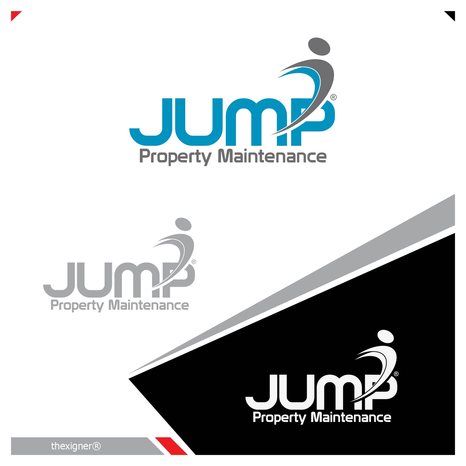 Logo Design by lagalag - Entry No. 65 in the Logo Design Contest Creative Logo Design for Jump Property Maintenance.