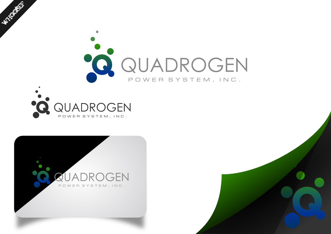 Logo Design by whoosef - Entry No. 8 in the Logo Design Contest New Logo Design for Quadrogen Power Systems, Inc.