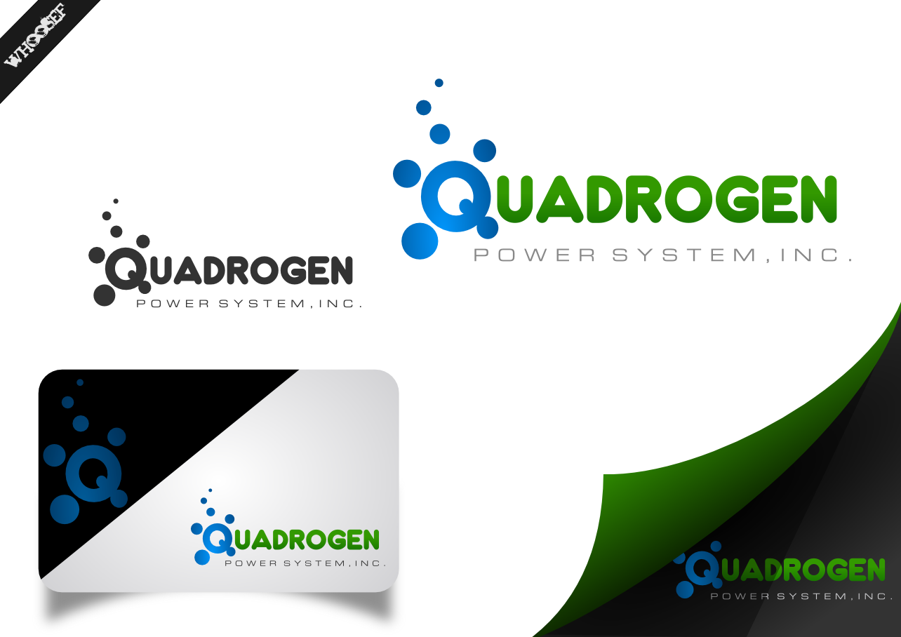 Logo Design by whoosef - Entry No. 9 in the Logo Design Contest New Logo Design for Quadrogen Power Systems, Inc.