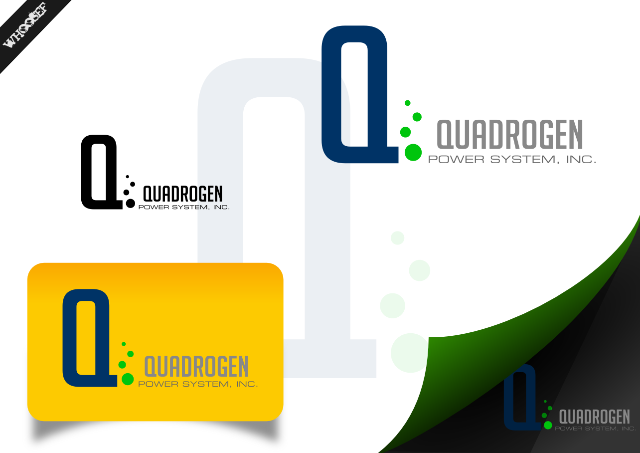 Logo Design by whoosef - Entry No. 14 in the Logo Design Contest New Logo Design for Quadrogen Power Systems, Inc.