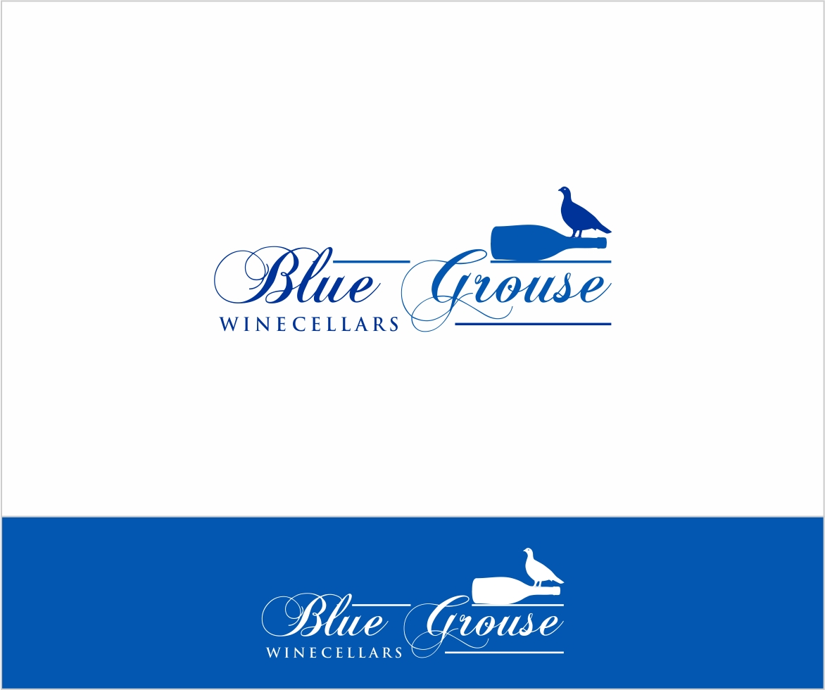 Logo Design by haidu - Entry No. 222 in the Logo Design Contest Creative Logo Design for Blue Grouse Wine Cellars.