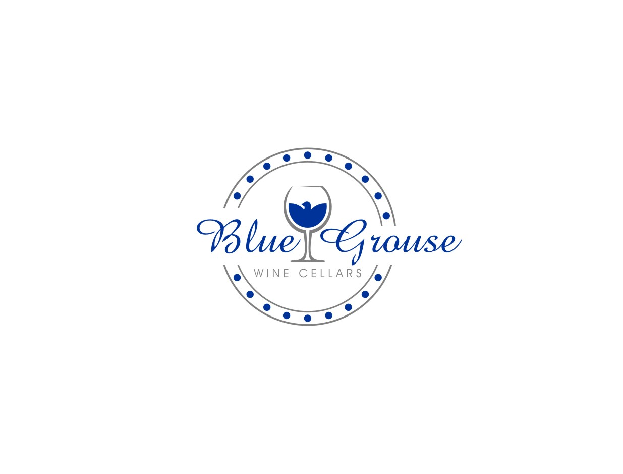 Logo Design by untung - Entry No. 224 in the Logo Design Contest Creative Logo Design for Blue Grouse Wine Cellars.
