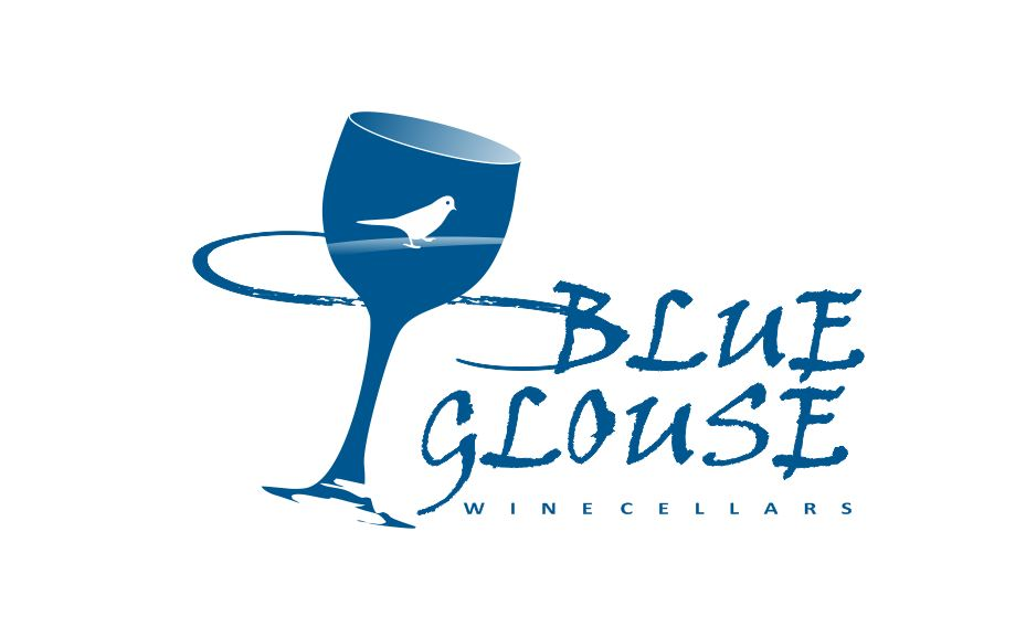 Logo Design by Tenstar Design - Entry No. 225 in the Logo Design Contest Creative Logo Design for Blue Grouse Wine Cellars.
