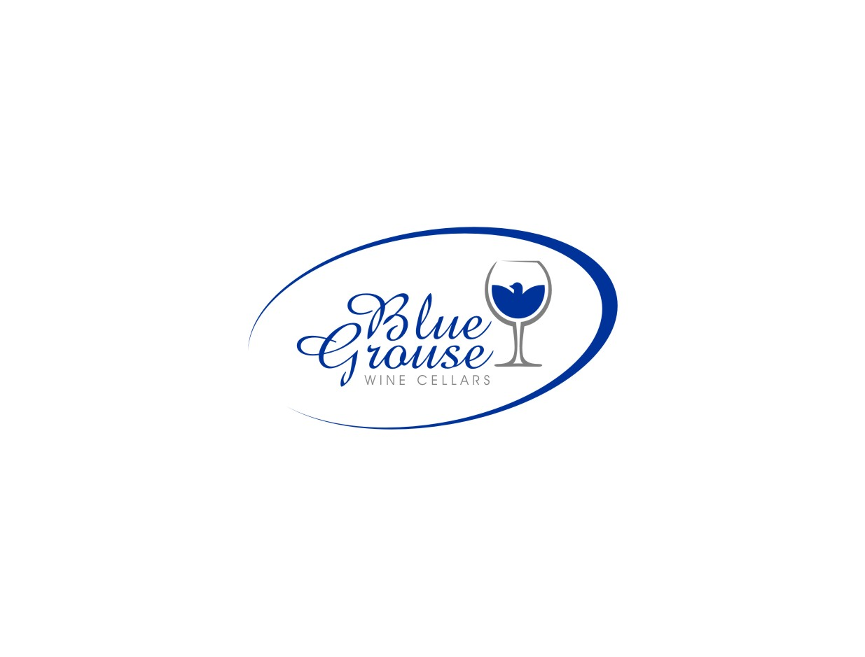 Logo Design by untung - Entry No. 227 in the Logo Design Contest Creative Logo Design for Blue Grouse Wine Cellars.