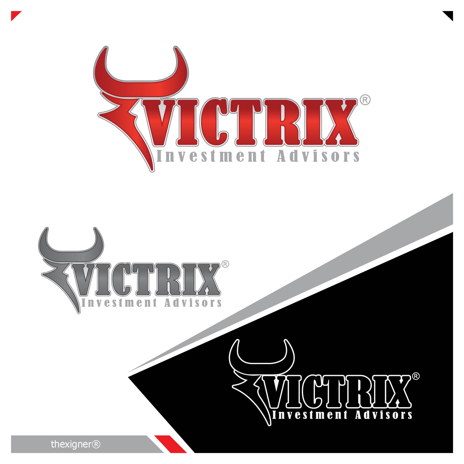 Logo Design by lagalag - Entry No. 2 in the Logo Design Contest Inspiring Logo Design for Victrix Investment Advisors.