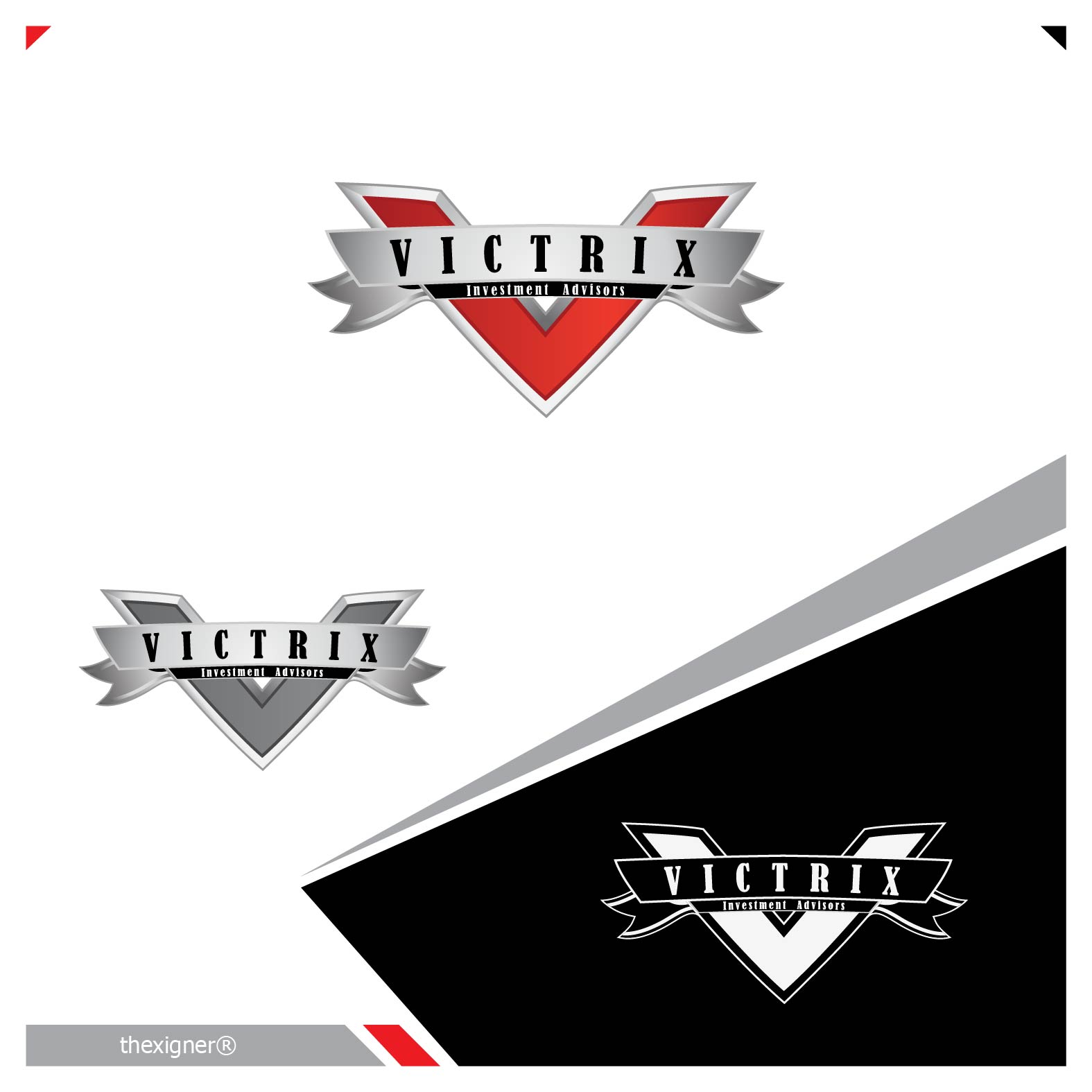 Logo Design by lagalag - Entry No. 3 in the Logo Design Contest Inspiring Logo Design for Victrix Investment Advisors.