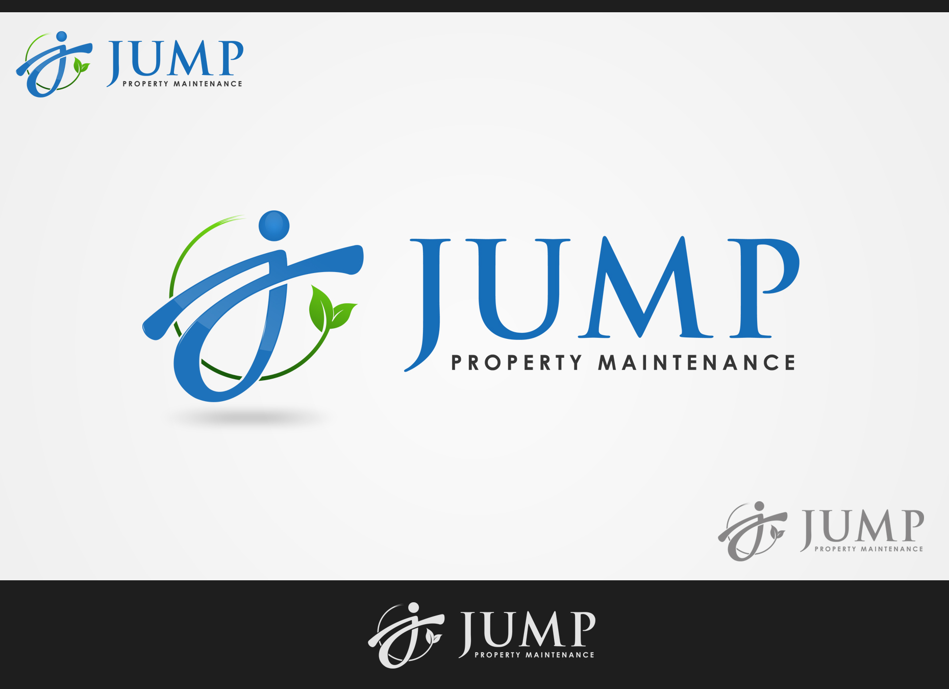 Logo Design by omARTist - Entry No. 75 in the Logo Design Contest Creative Logo Design for Jump Property Maintenance.