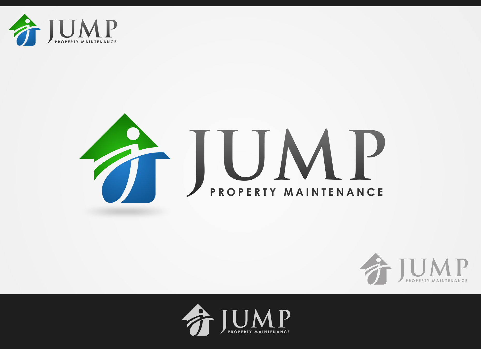 Logo Design by omARTist - Entry No. 79 in the Logo Design Contest Creative Logo Design for Jump Property Maintenance.