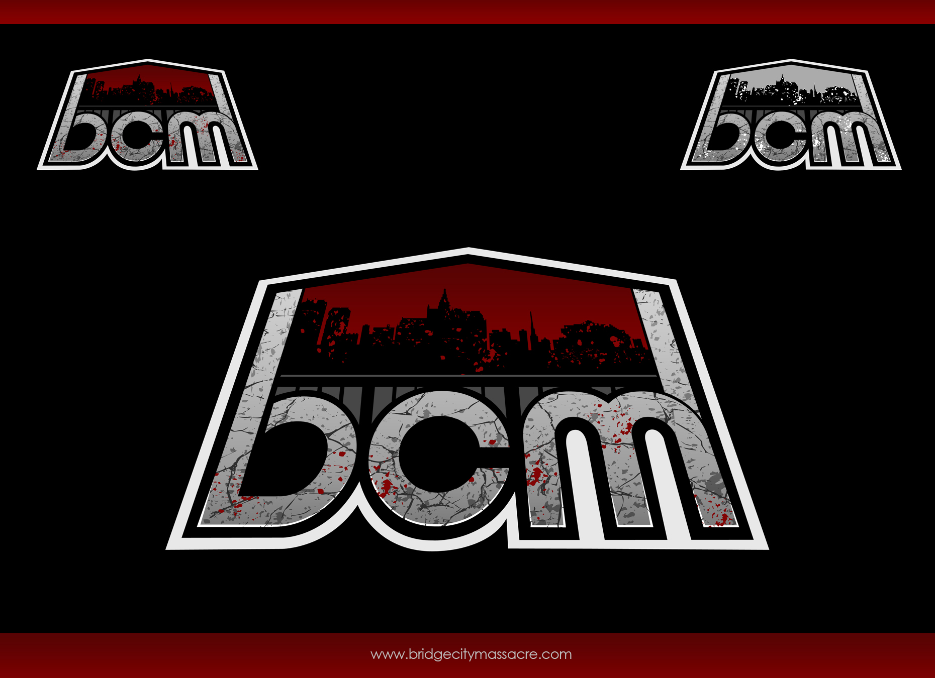 Logo Design by omARTist - Entry No. 49 in the Logo Design Contest New Logo Design for Bridge City Massacre.