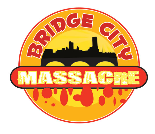 Logo Design by Mohamed Sheikh - Entry No. 55 in the Logo Design Contest New Logo Design for Bridge City Massacre.