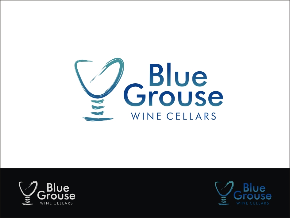 Logo Design by RED HORSE design studio - Entry No. 230 in the Logo Design Contest Creative Logo Design for Blue Grouse Wine Cellars.