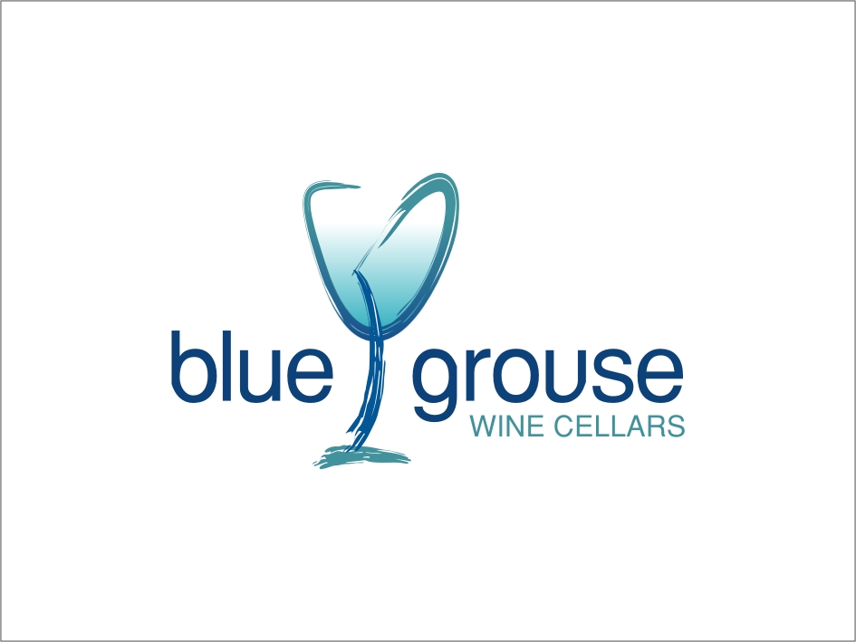 Logo Design by RED HORSE design studio - Entry No. 231 in the Logo Design Contest Creative Logo Design for Blue Grouse Wine Cellars.