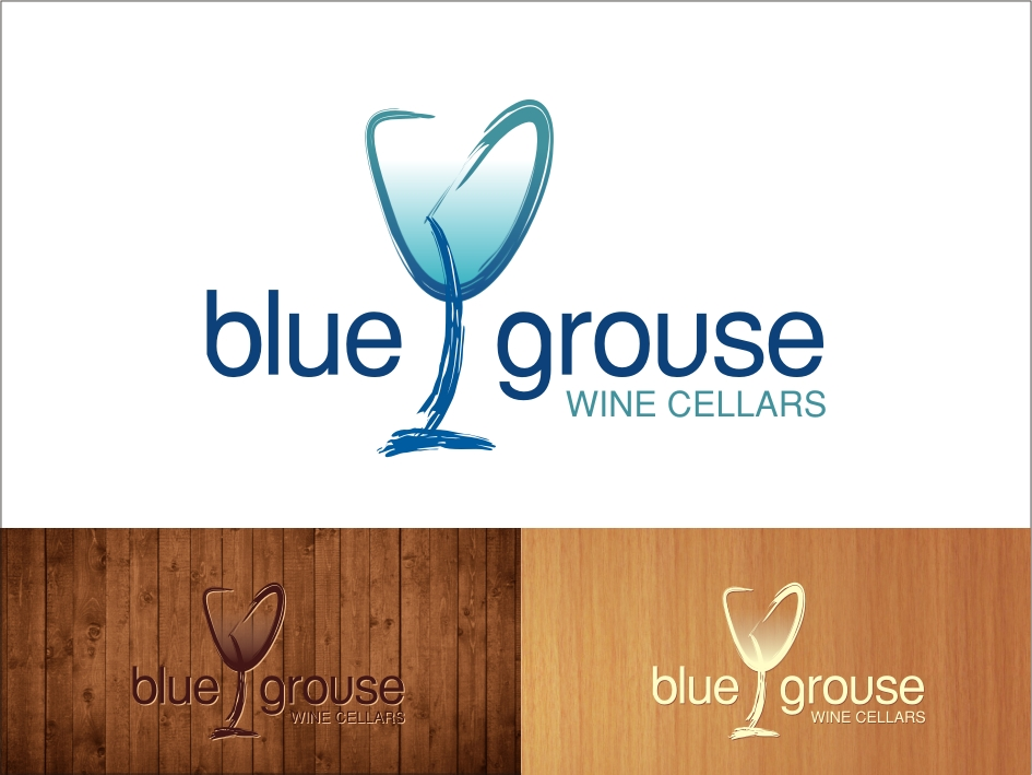 Logo Design by RED HORSE design studio - Entry No. 232 in the Logo Design Contest Creative Logo Design for Blue Grouse Wine Cellars.