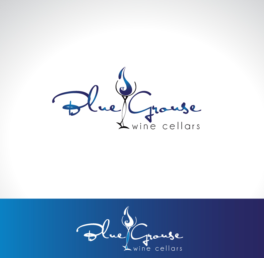 Logo Design by Darina Dimitrova - Entry No. 233 in the Logo Design Contest Creative Logo Design for Blue Grouse Wine Cellars.
