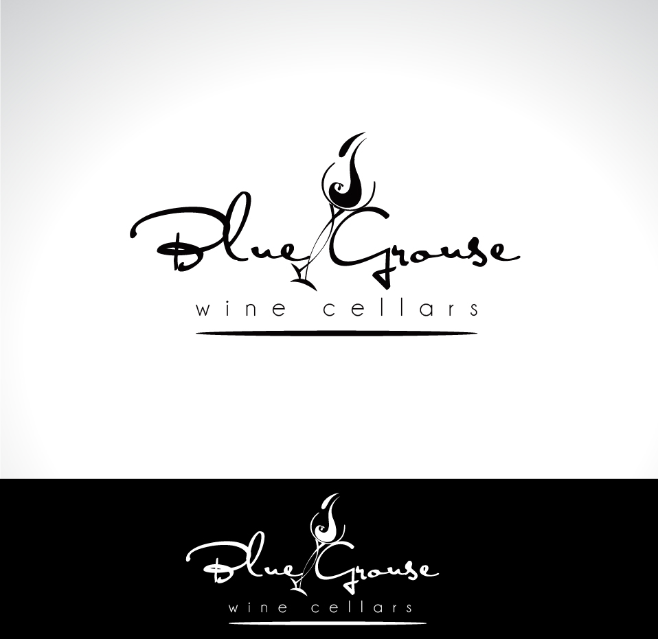 Logo Design by Darina Dimitrova - Entry No. 234 in the Logo Design Contest Creative Logo Design for Blue Grouse Wine Cellars.