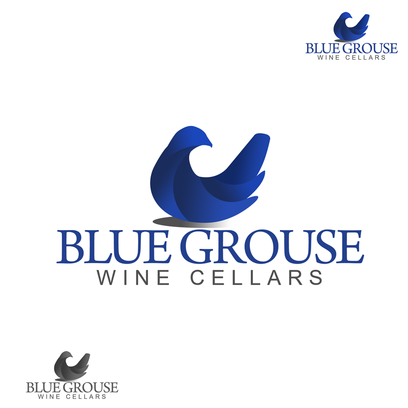 Logo Design by Private User - Entry No. 235 in the Logo Design Contest Creative Logo Design for Blue Grouse Wine Cellars.