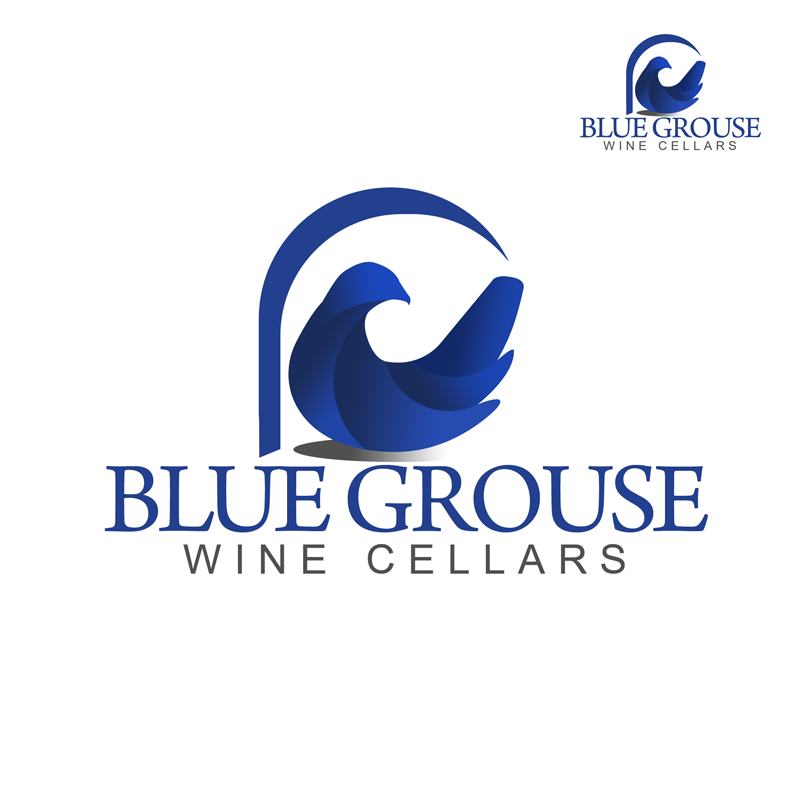 Logo Design by Private User - Entry No. 236 in the Logo Design Contest Creative Logo Design for Blue Grouse Wine Cellars.