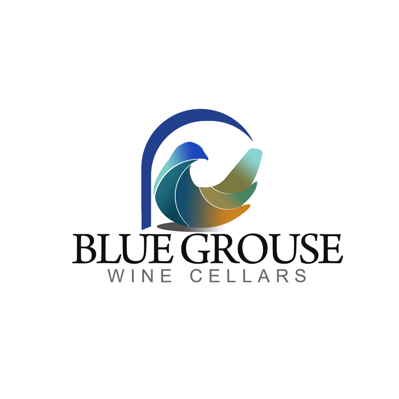 Logo Design by Robert Turla - Entry No. 237 in the Logo Design Contest Creative Logo Design for Blue Grouse Wine Cellars.