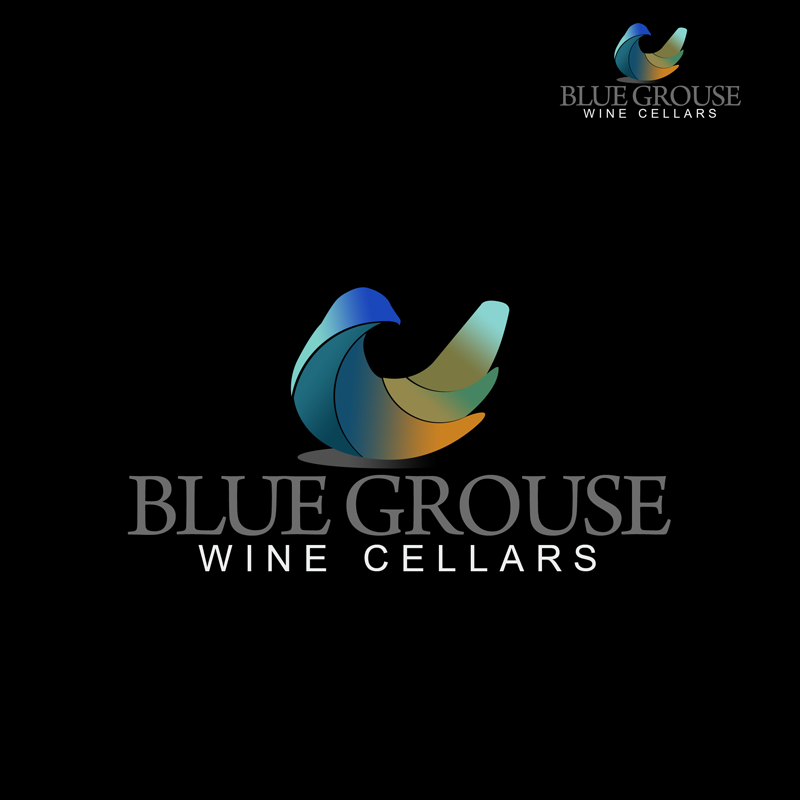 Logo Design by Private User - Entry No. 238 in the Logo Design Contest Creative Logo Design for Blue Grouse Wine Cellars.