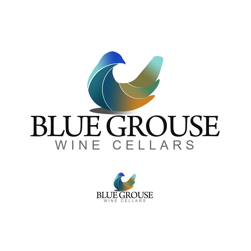 Logo Design by Private User - Entry No. 239 in the Logo Design Contest Creative Logo Design for Blue Grouse Wine Cellars.