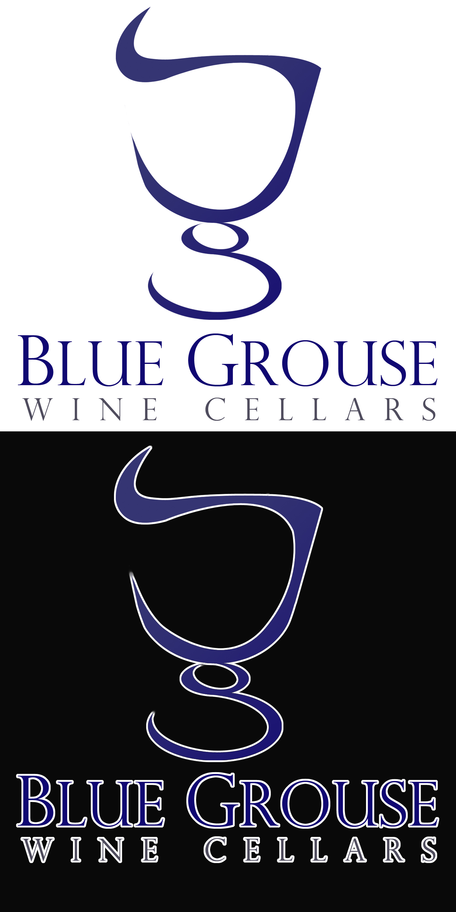 Logo Design by Private User - Entry No. 241 in the Logo Design Contest Creative Logo Design for Blue Grouse Wine Cellars.