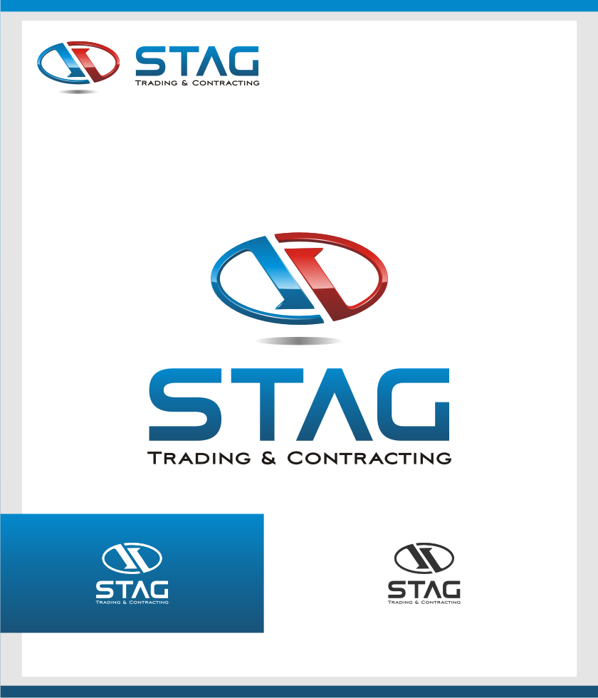 Logo Design by graphicleaf - Entry No. 115 in the Logo Design Contest Captivating Logo Design for STAG Trading & Contracting.