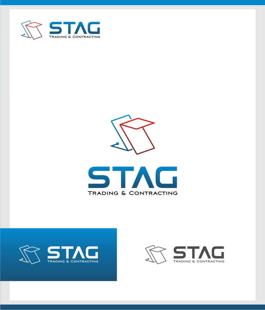 Logo Design by graphicleaf - Entry No. 122 in the Logo Design Contest Captivating Logo Design for STAG Trading & Contracting.