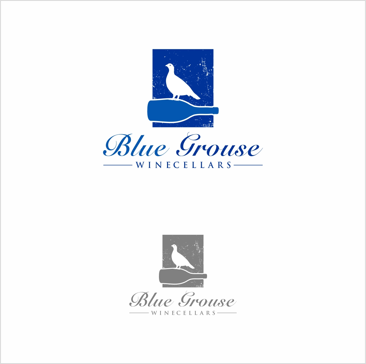 Logo Design by haidu - Entry No. 243 in the Logo Design Contest Creative Logo Design for Blue Grouse Wine Cellars.
