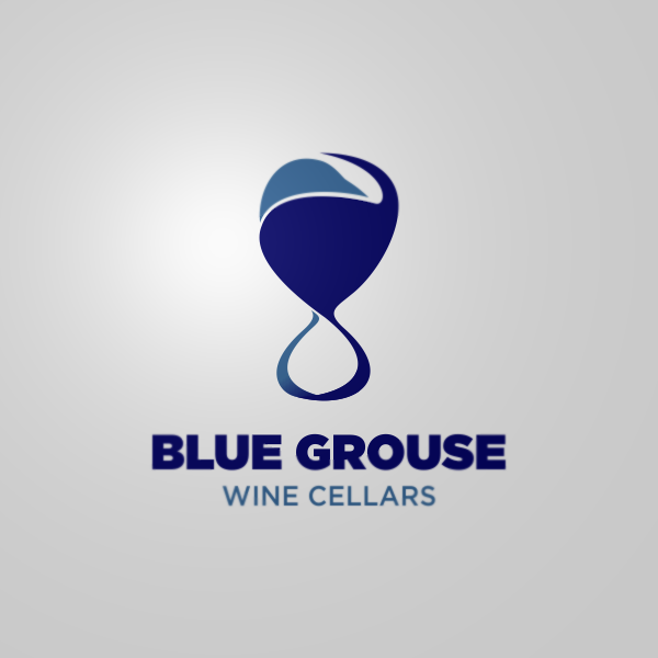 Logo Design by Private User - Entry No. 245 in the Logo Design Contest Creative Logo Design for Blue Grouse Wine Cellars.