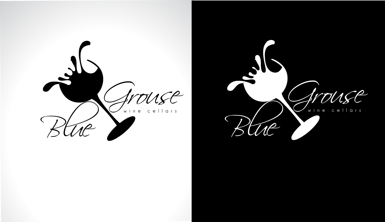Logo Design by Darina Dimitrova - Entry No. 247 in the Logo Design Contest Creative Logo Design for Blue Grouse Wine Cellars.