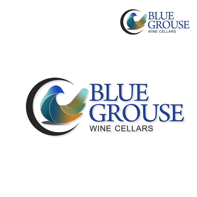 Logo Design by Robert Turla - Entry No. 248 in the Logo Design Contest Creative Logo Design for Blue Grouse Wine Cellars.
