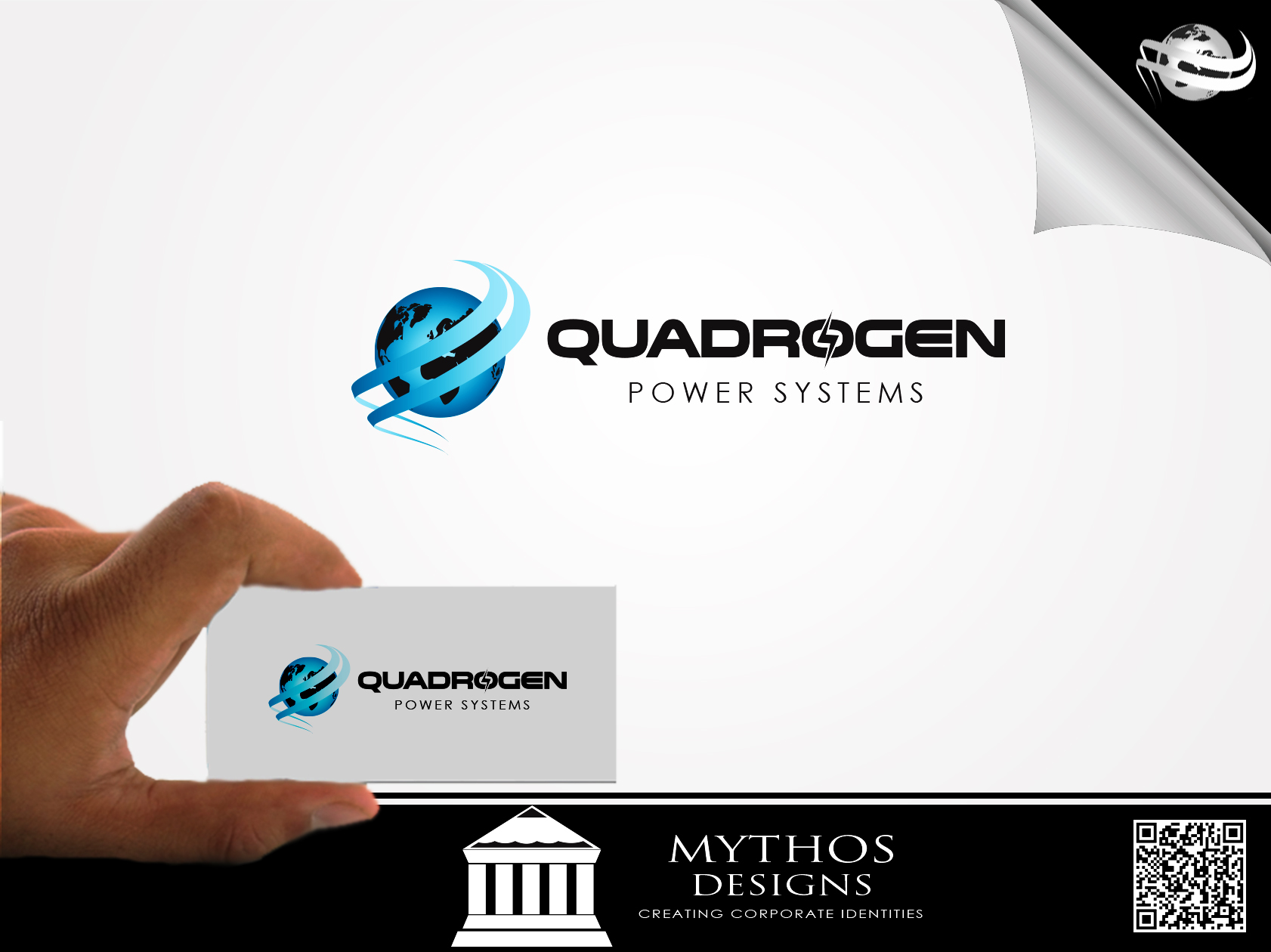 Logo Design by Mythos Designs - Entry No. 27 in the Logo Design Contest New Logo Design for Quadrogen Power Systems, Inc.