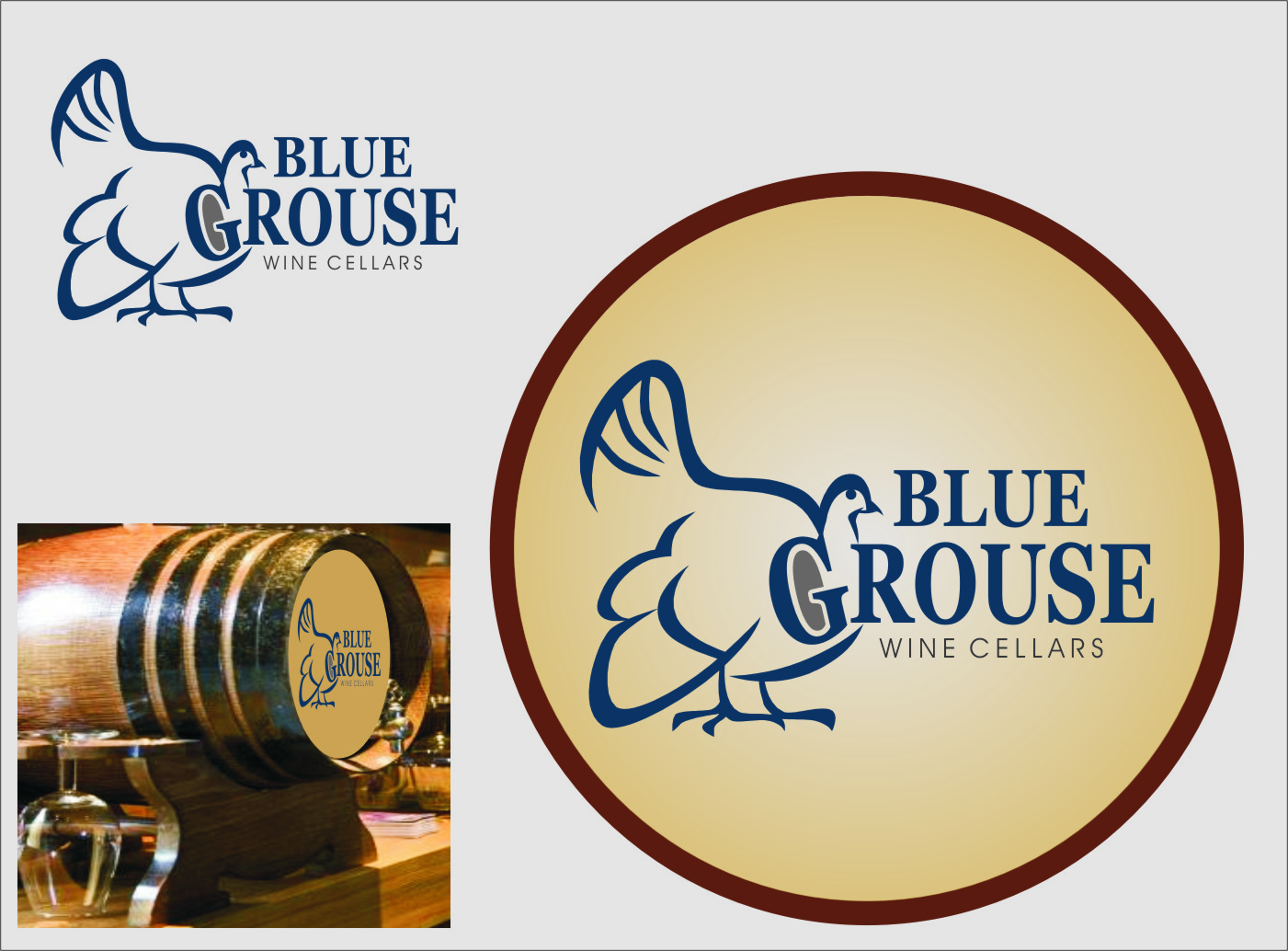 Logo Design by Ngepet_art - Entry No. 250 in the Logo Design Contest Creative Logo Design for Blue Grouse Wine Cellars.