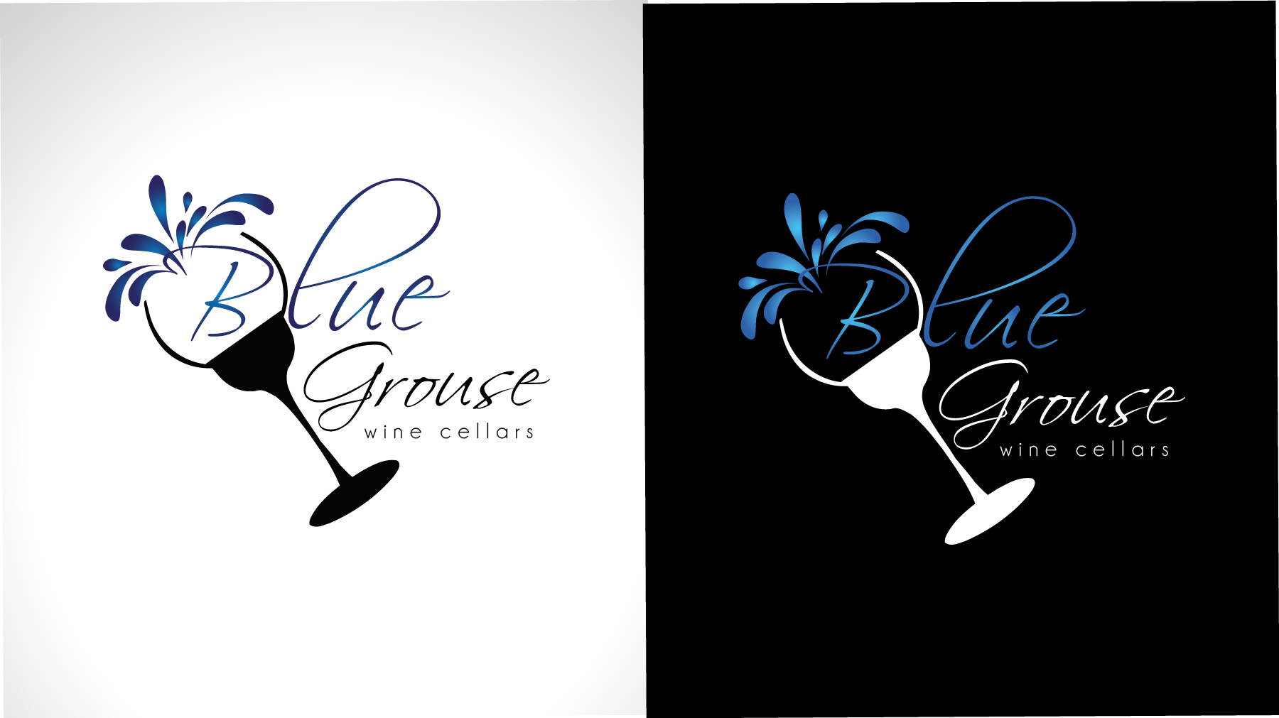 Logo Design by Darina Dimitrova - Entry No. 251 in the Logo Design Contest Creative Logo Design for Blue Grouse Wine Cellars.