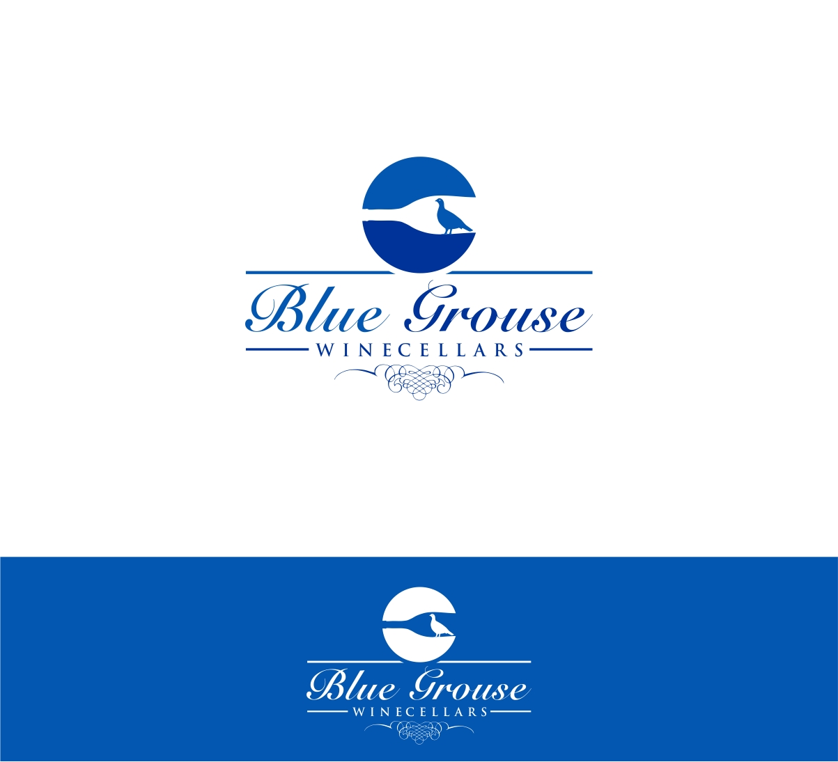 Logo Design by haidu - Entry No. 254 in the Logo Design Contest Creative Logo Design for Blue Grouse Wine Cellars.