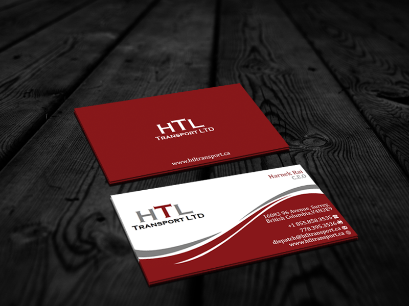 Business Card Design by Private User - Entry No. 37 in the Business Card Design Contest Fun Business Card Design for HTL Transport LTD.