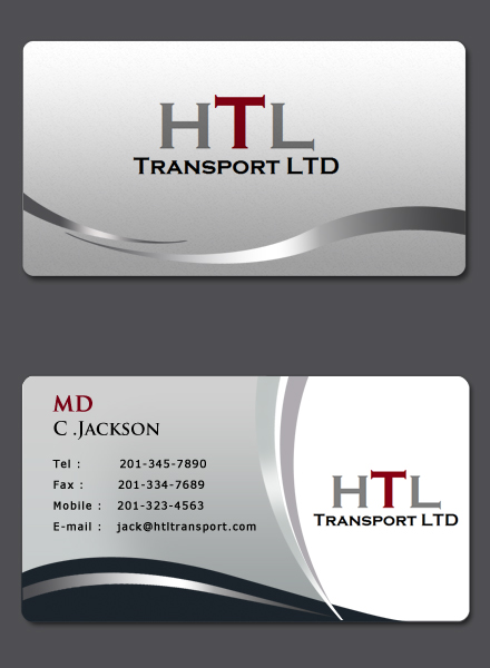 Business Card Design by Crystal Desizns - Entry No. 39 in the Business Card Design Contest Fun Business Card Design for HTL Transport LTD.